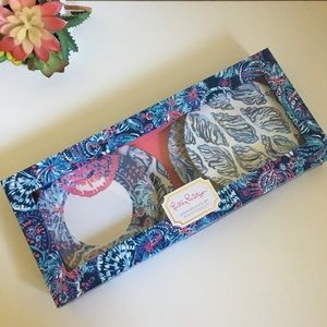 NEW Lilly Pulitzer appetizer plates set of 4